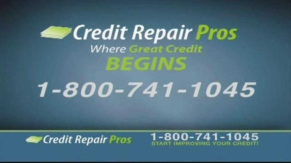 credit repair pros tv spot 39 free credit consultation. Black Bedroom Furniture Sets. Home Design Ideas