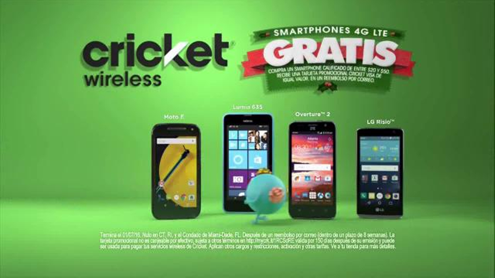 Cricket wireless tv spot 39 hora de regalos 39 spanish for Regalo mobile tv