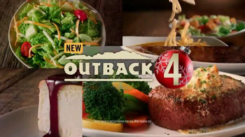 Outback Steakhouse Holiday 2015 TV Spot, 'Four Courses for $14.99'