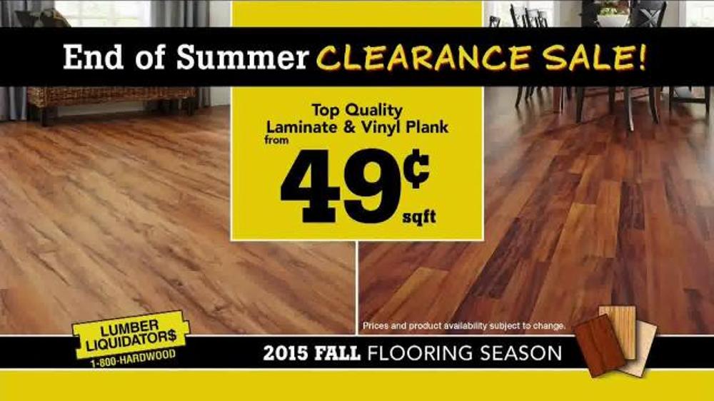 Lumber Liquidators Clearance Sale