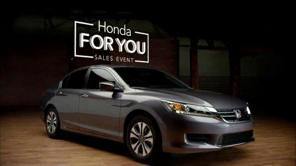 Honda Accord Sedan >> 2015 Honda Accord TV Commercial, 'Honda For You' - iSpot.tv