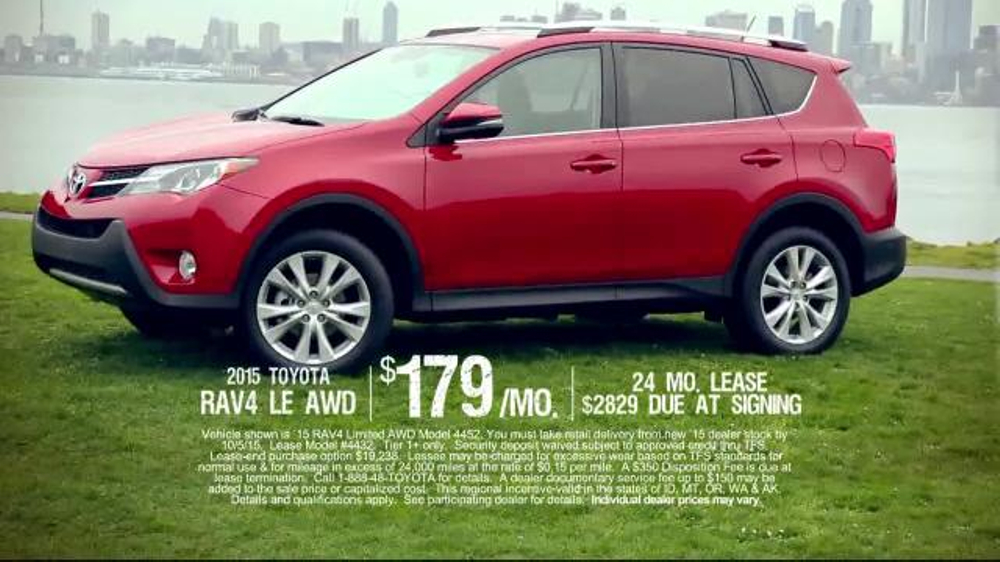 2015 toyota rav4 le awd tv commercial 39 live life 39. Black Bedroom Furniture Sets. Home Design Ideas