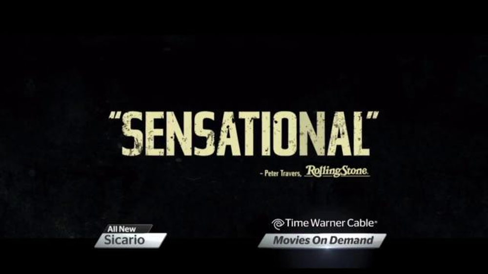 Time warner cable on demand tv spot 39 sicario 39 for Tv on demand