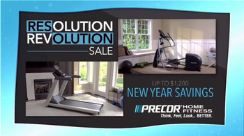 Precor Home Fitness Resolution Revolution Sale TV Spot, 'Health Resolution'