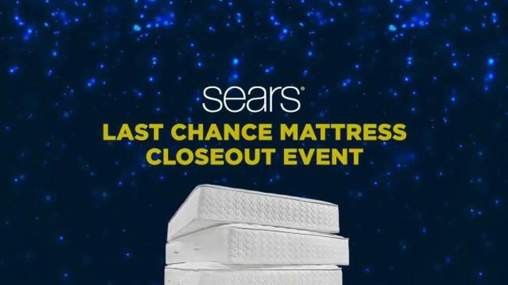 Sears Last Chance Mattress Closeout Event Tv Spot Award