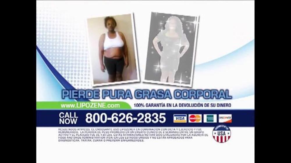 Lipozene TV Spot, 'Pierde grasa corporal' [Spanish] - iSpot.tv