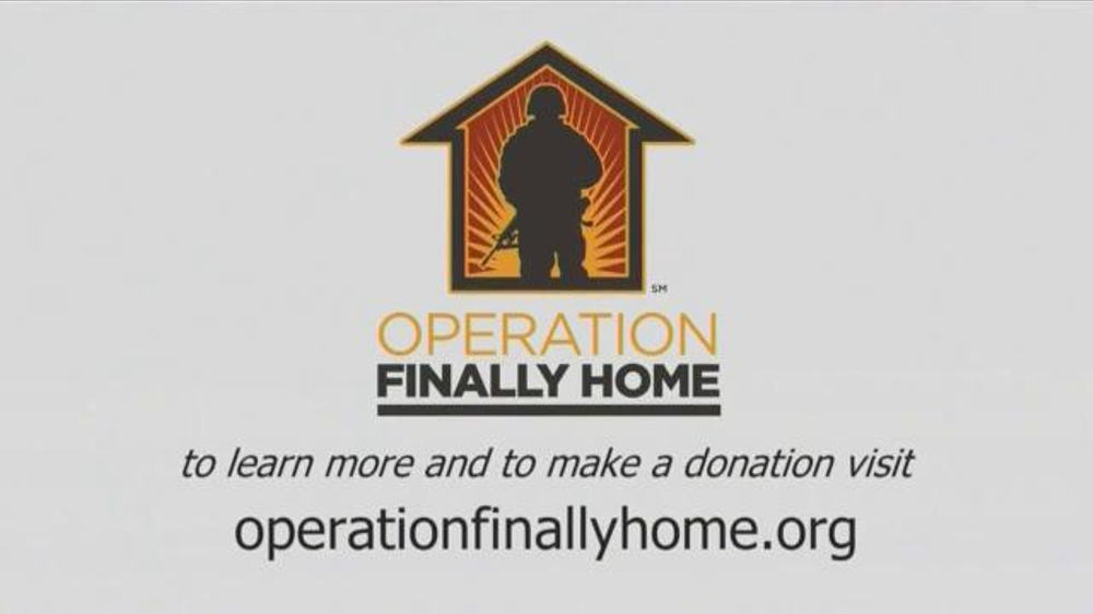 Operation finally home tv spot 39 joined to serve 39 for Operationfinallyhome org