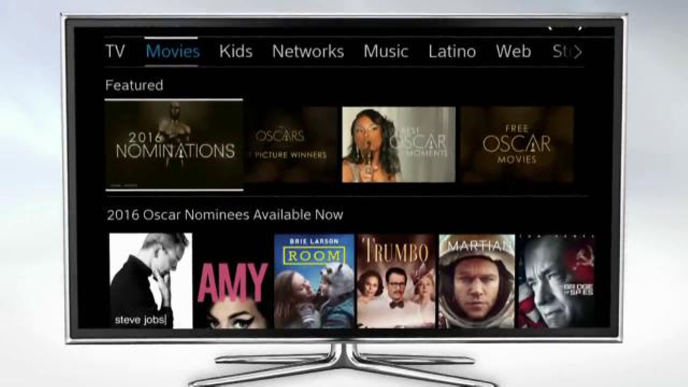 Xfinity on demand tv spot 39 2016 oscars collection 39 for Tv on demand