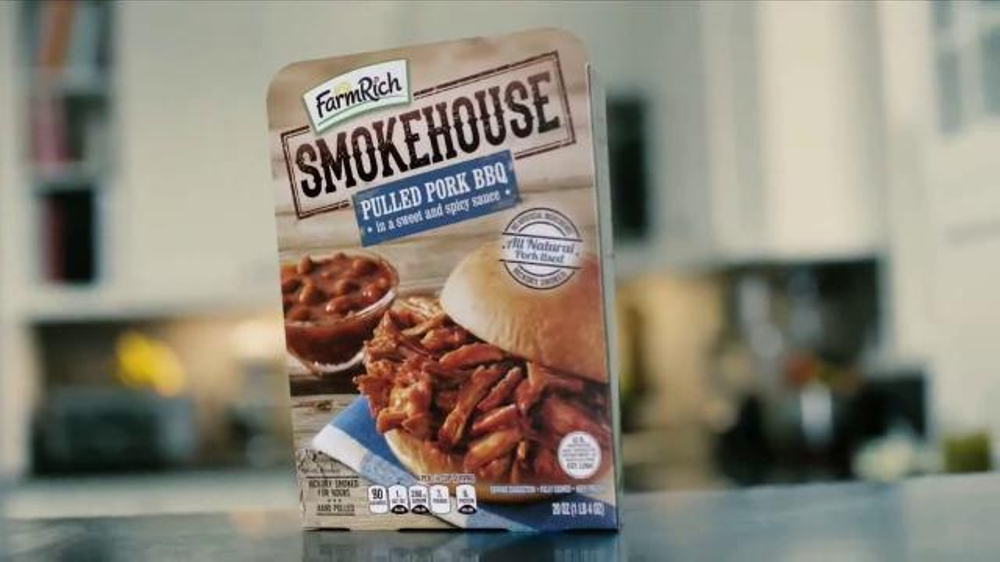 Farm rich smokehouse pulled pork bbq tv spot 39 choose your battles 39 - Choose best pork ...