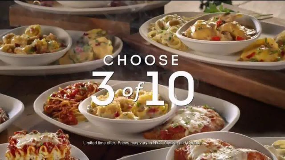 Olive garden create your own tour of italy tv spot 39 choose three 39 What time does the olive garden close