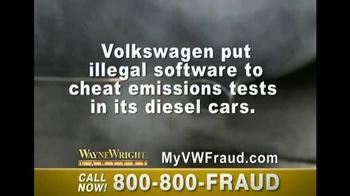 Wayne Wright LLP TV Spot, 'VW Fraud'