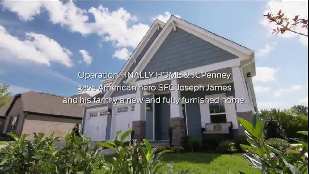 Jcpenney tv spot 39 operation finally home james family for Operationfinallyhome org