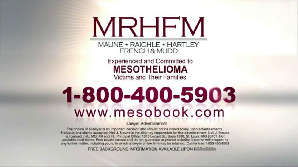 Pulaski Law Firm >> Maune Raichle Hartley French & Mudd, LLC TV Commercial, 'Mesobook' - iSpot.tv